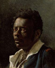 """Théodore Géricault - Portrait Study, 1818 - 1819 oil on canvas """""""