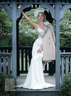 "Della Giovanna ""Charlie"" corset and ""Devin"" skirt featured in this months issue of Brides magazine!"
