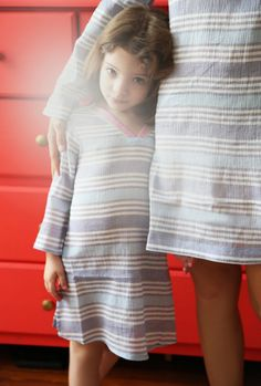 Shopbop's Fashion Director, Eleanor Strauss, and daughter Honor wear exclusive JOIE matching Kirshna Tunics - the perfect gift for Mother's Day