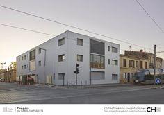 Fabre/deMarien's Tirepois apartments feature metal cladding and recessed windows — Dezeen Aquitaine, Residential Architecture, Interior Architecture, Metal Cladding, Bordeaux France, Fabre, Construction, Galvanized Metal, Dezeen