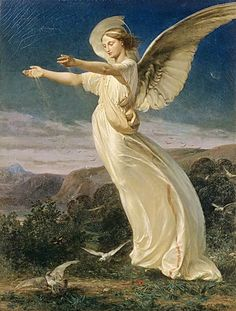 Armand Cambon ~Sowing Angel, 1860
