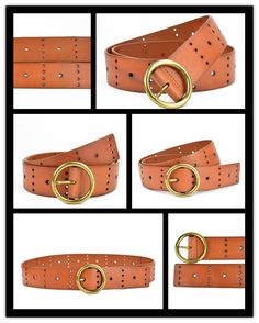Ladies Leather Belt with Holes-JDLA13187