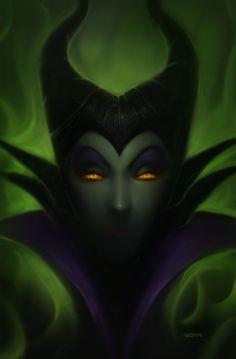 by tvonn9 on DeviantART. Maleficent, Disney, fan art, villains http://www.deviantart.com/art/Maleficent-Profile-431351884