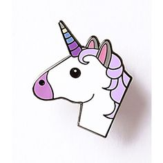 Ivory & Purple Unicorn Enamel Pin ($12) ❤ liked on Polyvore featuring jewelry, brooches, multicolor, pin brooch, ivory jewelry, pin jewelry, tri color jewelry and multicolor jewelry