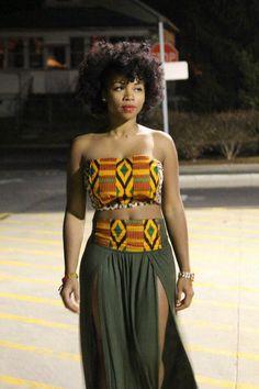 African fabric kente or Ankara I love it African Attire, African Wear, African Dress, African Style, African Dance, African Clothes, African Women, African Inspired Fashion, African Print Fashion