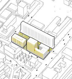 Ensemble immobilier de logements, bureaux et équipement Ilot Desaix – Lyon