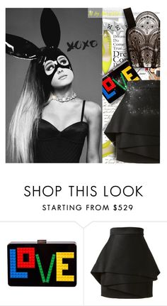 """""""I Live In The Middle Of The Heartbreak City"""" by mariloo ❤ liked on Polyvore featuring Les Petits Joueurs, Balmain and Delpozo"""