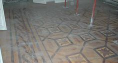 Antique parquet floor, inlaid with mahogany and sycamore - Floors