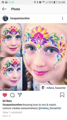 Princess Face Painting, Girl Face Painting, Face Painting Designs, Body Painting, Face Paintings, Henna Art, Face Art, Face And Body, Body Art