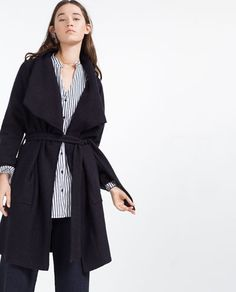Image 7 of WOOL COAT WITH BELT from Zara