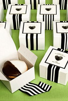 Brides.com: . For a glam New York City wedding, offer a taste of home with these black-and-white cookies.