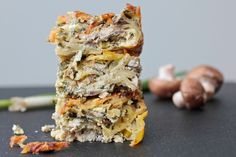 Savory Mushroom Cheese Kugel for Shavuot- a riff on traditional cheese kugel !