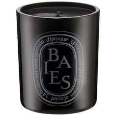 Diptyque Baies Coloured Scented Candle found on Polyvore featuring home, home decor, candles & candleholders, black, filler, rose candle, rose scented candles, diptyque, diptyque candles and black candles