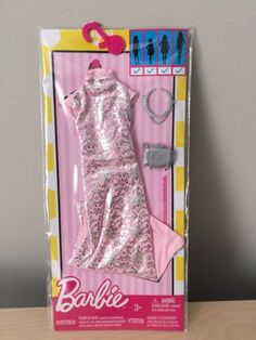 Barbie Complete Look Fashion Pack Pink Brocade Dress Clothes Fits Curvy Doll | eBay