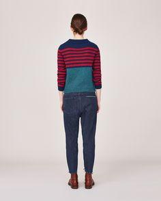 Women's Brandy Stripe Neat Sweater | TOAST