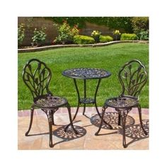 Patio Bistro Set Antique Copper Furniture Outdoor Yard Conversation Set Guests #BestChoiceProducts