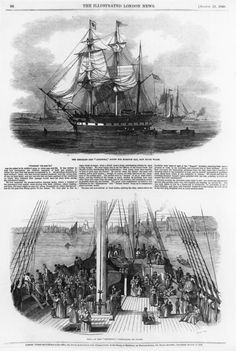 inch) Print (other products available) - (Top) The Emigrant Ship Artemisia en route for Moreton Bay, New South Wales, Australia. (Bottom) Emigrants on the deck of the ship. Date: 1848 - Image supplied by Mary Evans Prints Online - Print made in Australia Fine Art Prints, Canvas Prints, Australia Photos, New South, Online Images, Evans, Photographic Prints, South Wales, Wonderful Images