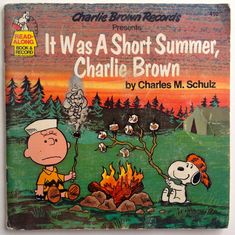 It Was a Short Summer, Charlie Brown 7' Vinyl Record / Book, Charlie Brown Records - 410, Children's Story, 1980,  Original Pressing