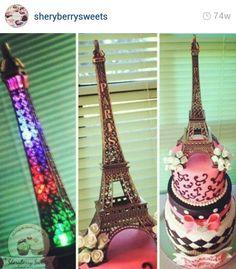 Eiffel Tower cakes