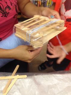 STEM projects at the Windsor Terrace Branch of the Brooklyn Public Library--bridge building.