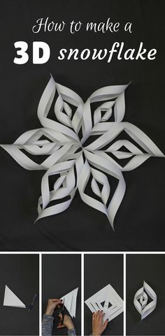 15 Super Ideas For Decor Christmas Diy Paper Snowflakes Holiday Crafts, Holiday Fun, Walking Holiday, Holiday Stress, Kids Crafts, 3d Snowflakes, Snowflake Snowflake, How To Make Snowflakes, Diy Snowflake Paper