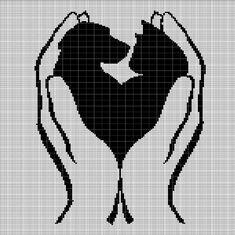 In the master's palm crochet afghan pattern chart Cat Cross Stitches, Cross Stitch Charts, Cross Stitch Designs, Cross Stitch Embroidery, Hand Embroidery, Cross Stitch Patterns, Embroidery Patterns, Graph Crochet, Giraffe Crochet