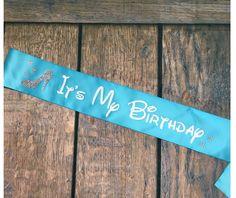 Cinderella Adult Party Sash It's My Birthday by FletcherIncDesigns