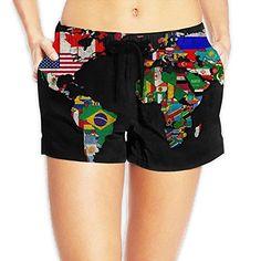 World Map Flag Women's Board Shorts Quick Dry Swim Trunks... https://www.amazon.com/dp/B07CZN6LH6/ref=cm_sw_r_pi_dp_U_x_7mxbBbMJQ54FH