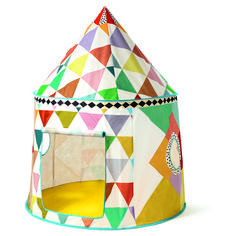 Find Multi-coloured Play Tent Djeco from Djeco at the best price on Jeujouet ! Large choice of Djeco products on our specialty store. Cabana, Kids Indoor Play, Indoor Tents, Kids Collection, Roll Up Doors, Triangular Pattern, Build A Playhouse, Cool Tents, Wonderwall