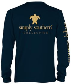 Simply Southern Long Sleeve Navy T-Shirt - Black Friday Special Turtle – Pretendtimetoys Simply Southern Shirts, Preppy Southern, Tee Shirts, Tees, Black Friday, Turtle, Mens Tops, Clothes, Navy