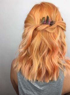 Peach Hair Colors Ideas    #peachhair #hair #haircolors