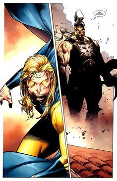 Ares vs Sentry, art by Olivier Coipel Marvel Comics, Cosmic Comics, Marvel Art, Marvel Heroes, Marvel Comic Character, Marvel Characters, Sentry Marvel, Star Trek, Saga Comic