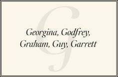 The Preppiest Names from A to Z  - TownandCountryMag.com