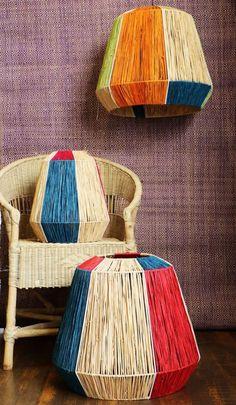 DIY Kits & Resources to Make Custom Light Fixtures and Lampshades Fajiri & Utuli Lampshades by Ashanti Design