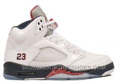 9c8bac8a2b27c1 136027-103 Air Jordan 5 (V) Olympic White Midnight Navy Varsity Red (Women  Men Gs Girls) A05003 2016 Retro