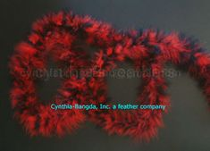 Red //Black Mix 22 Grams Marabou Feather Boa 6 Feet Long Crafting Sewing Trim