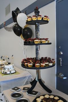 Hockey Stick cupcake stand