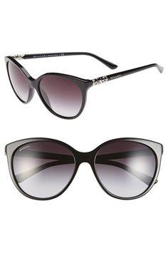 BVLGARI 'Intarsio' 57mm Cat Eye Sunglasses available at #Nordstrom
