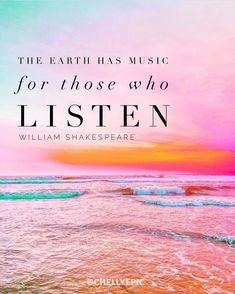 The earth has music for those who listen. - Shakespeare • @chellyepic • photo by Kate Woznick @katewoznick