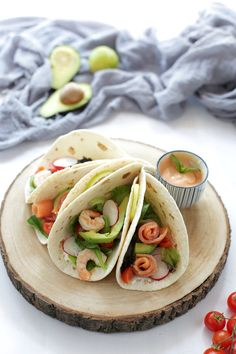 Fajitas avocado salmone gamberetti | Mamma Gy