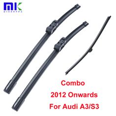 Combo Front And Rear Wiper Blades For Audi A3/S3 2012 Onwads Silicone Rubber Windscreen Wiper Auto Car Accessories