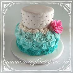 Butter Icing Rose Cake #buttericingrosecake