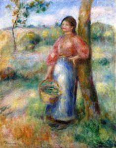 Peasant Woman with a Basket - Pierre Auguste Renoir - The Athenaeum