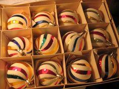 Set of 12 Vintage Mercury Glass Christmas Ornaments Czechoslakia in Orginal Box   eBay