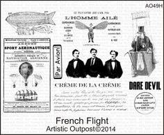 Stamps - Artistic Outpost French Flight