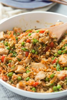 This One Pot Teriyaki Chicken, Rice and Vegetables is an easy, family friendly meal that's made in just 3o minutes or less! It healthy and hearty