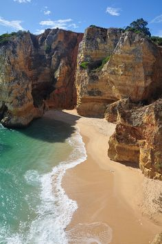 Praia de Dona Ana, Algarve Coast, Portugal #beach #island #luxury #retreat