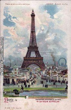 Cartes Postales Photos EXPOSITION UNIVERSELLE DE 1900     LA TOUR EIFFEL  75000 PARIS paris (75)