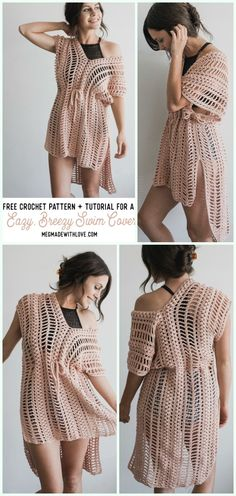 c7a1812dca901 Crochet Beach Cover Up Free Patterns Women Summer Top