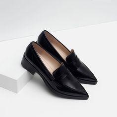 ZARA LEATHER PENNY LOAFERS BRAND NEW ZARA FAUX LEATHER PENNY LOAFERS BRAND NEW Zara Shoes Flats & Loafers